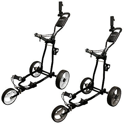 Md Golf Turfglider Icon 3 Wheel Fold Flat Trolley - New Push Cart Compact 2017