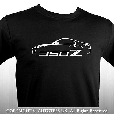 Nissan 350Z With Motif Sports Car T-Shirt