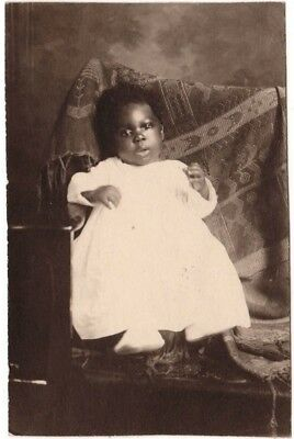 Antique African American Adorable Baby Boy Old Photo Black Americana AVC01