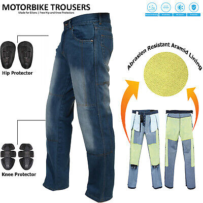 Casual Reinforced Lining Jeans Motorcycle Motorbike Trousers with free Armours