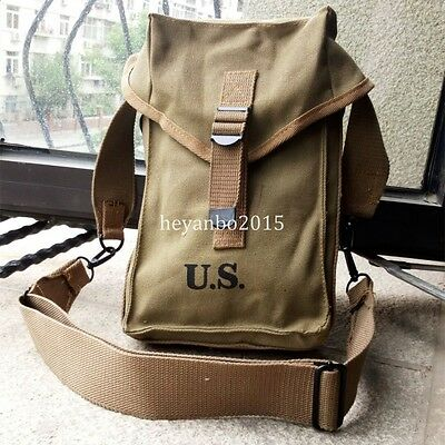 Beautiful Wwii Us Amry Military General M1 Purpose Ammo Bag With Strap Bag Pouch