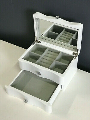 BRAND NEW WOODEN JEWELLERY GIFT BOX IN GLOSS FINISH - PEARL WHITE 046 SH/CR 1.5k