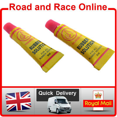GRIP GLUE For All Motorcycle Handle Bar Grips Strong ADHESIVE 5ml x 2 Tubes