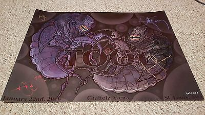 Tool Autographed Poster Chaifetz Arena  St. Louis MO 1-22-16