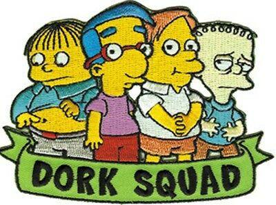 The Simpsons TV Series Dork Squad Group Embroidered Patch, NEW UNUSED