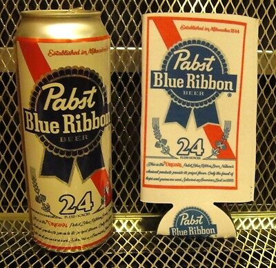 PBR PABST BLUE RIBBON Beer ~ NEW ~ 24oz TALL BOY KOOZIE Can Cooler  FREE STICKER