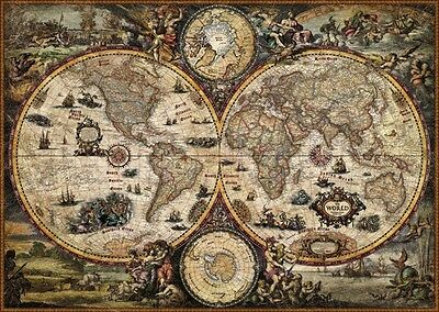 PUZZLE HEYE 2000 PEZZI + POSTER  THE WORLD VINTAGE WORLD 97x69 CM  ART 29666