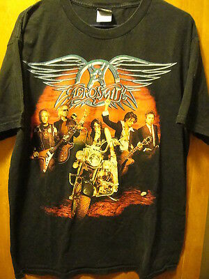 AEROSMITH Winterland 2006 ~ Large ~ Tyler Straddling Motrocycle T Shirt