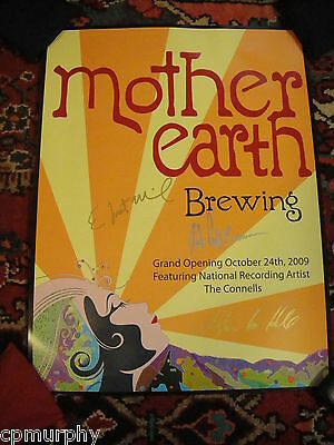 Mother Earth Brewing Company N Carolina Beer SIGNED Grand Opening 2009 Poster