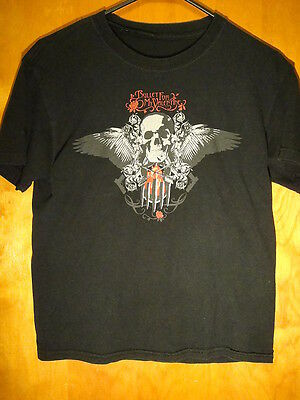Bullet for My Valentine Winged Skull Rock Tour Music Concert T Shirt Small Black