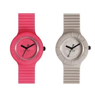 Orologio HIP HOP FULL COLOR Small 32mm Silicone Fucsia Grigio Uomo Donna
