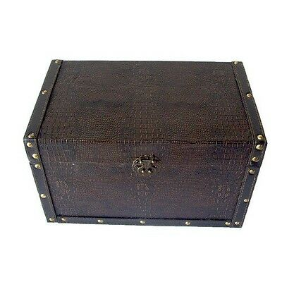 Decorative Leather Wooden Trunk. Free Delivery