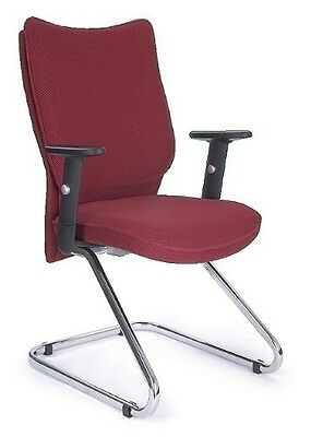 Eliza Tinsley 2113MBV/AWN Chrome Cantilever Framed Visitors Armchair - Wine. Bes