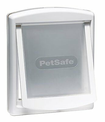 Petsafe Staywell Original 2-Way Pet Door 715Ef Small White Pet Supplies New UK • EUR 15,33
