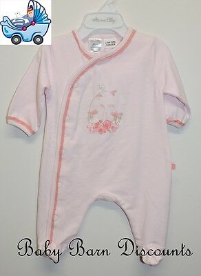 Max and Tilly - Pink Birds Onsie - Size 4 x 0's