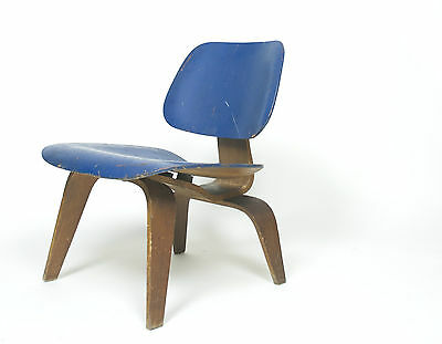 Eames Evans Herman Miller 1947 LCW Early Rare Chair, All Original Lounge Chair