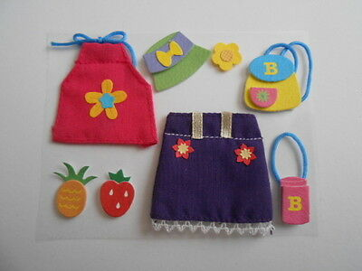 Girls Summer Outfit Embellishment Toppers For Cards And Crafts