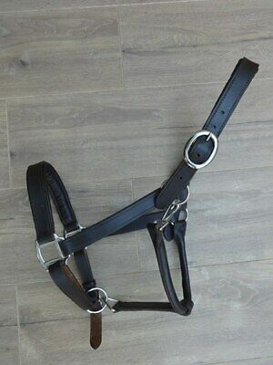 QUALITY SOFT PADDED DOUBLE STRENGTH LEATHER HEADCOLLAR VARIOUS COLOURS and SIZES