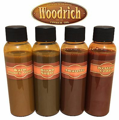 Timber Oil Wood Deck Fence & Siding Stain - Sample Color Kit - Woodrich Brand