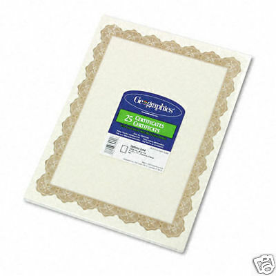 50 Parchment Paper Award Recognition Certificates Gold Border With Gold Seals