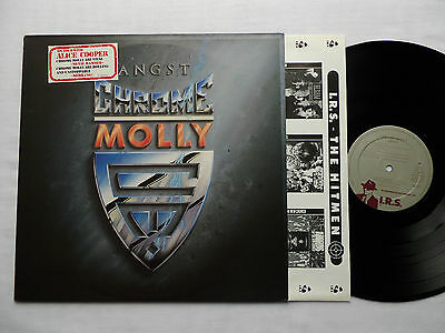 CHROME MOLLY Angst HOLLAND Orig LP + Sticker & Inner (1988) NM / NEW-UNPL.