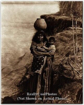 1903 Mohave Water Carrier ~ Colorado River Native American Indian 8x10 Photo