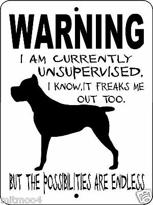 "CANE CORSO Dog Sign,9""x12"" Aluminum Sign,Guard Dog,Security Dog Sign, WUS1cc"
