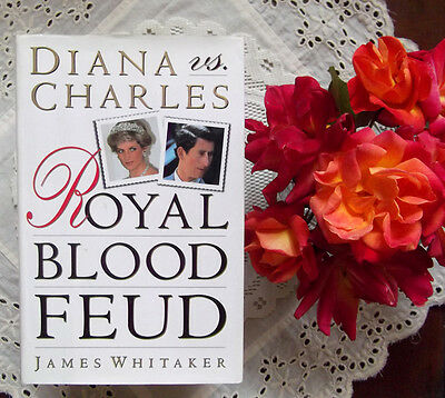 Princess Diana Versus Charles Royal Blood Feud Hardcover Book with photographs