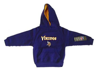 New Boys NFL Minnesota Vikings Hoody Sweatshirt Toddler 2T 5/6 7 Purple Youth