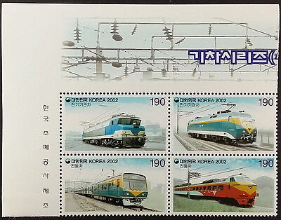 4 Korea Special Postage Stamps Train Series (III) #SC1050