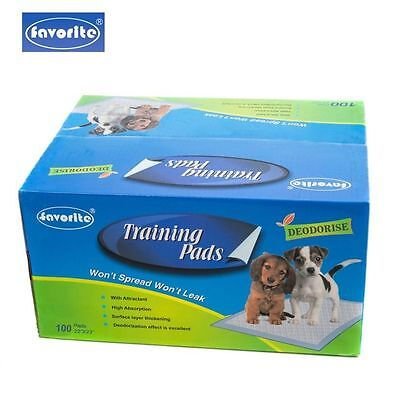 """100 Packs 22"""" x 23"""" Floor Protection Dog Puppy Housebreaking Training Pads"""
