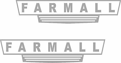 2- Farmall Tractor decal sticker vinyl truck 2 x 9 country Farming Farmer Diesel