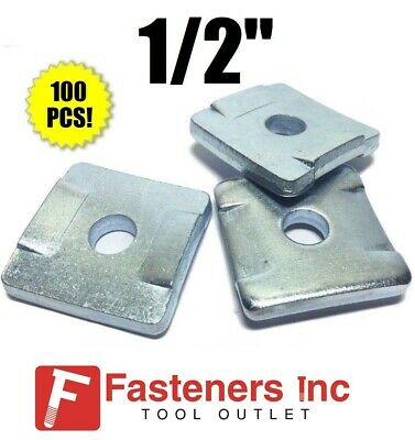 """(4608) P2864 1/2"""" Square Washers w/ Guides for Unistrut / B-Line Channel QTY 100"""