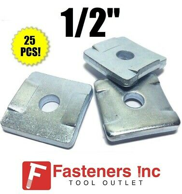 "(4608) P2864 1/2"" Square Washers w/ Guides for Unistrut / B-Line Channel QTY. 25"