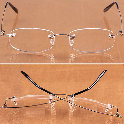 Fashion Elderly Ultralight Frameless Anti-fatigue Upscale Old Reading Glasses