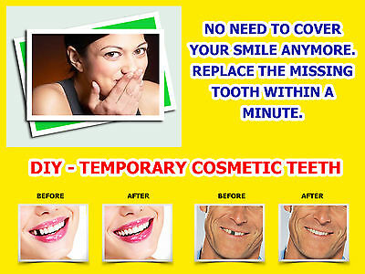 Temporary Tooth Missing Teeth Replacement Repair False Diy Temp Tooth +Free Gift