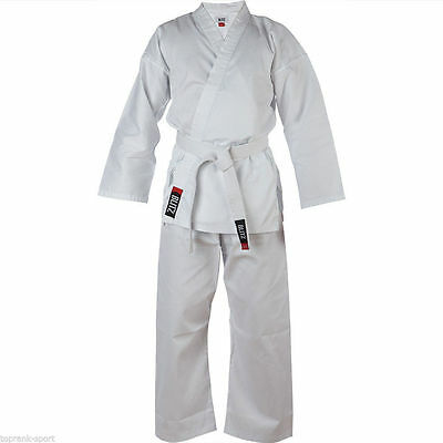 Blitz Adult Polycotton Lightweight Karate Suit / Gi / Uniform - White