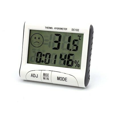 Mini Digital LCD Indoor Thermometer Hygrometer Clock for Home Office