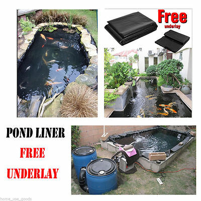 5x6M Garden Pool Pond Liner 0.3mm thickness+6x5M Non-woven 45 Years Guarantee