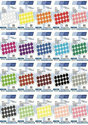 50 MM PAPER Coloured Marking Dot Stickers Round Spot Circles dots sticky Labels
