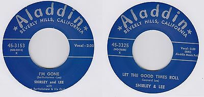 """Shirley & Lee & Dave Bartolomew Let The Good Times Roll/ I'm Gone - 7"""" - 45-3325"""