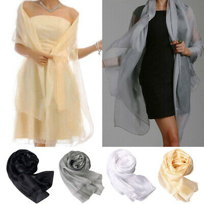 Fashion Women Lady Long Plain Chiffon Neck Scarf Scarves Wrap Soft Stole Shawl