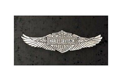 Harley Davidson / Motorradpin /Badge Modell Straight Wings 3 D