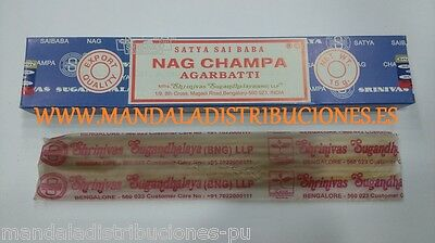 OFERTA! INCIENSO NAG CHAMPA 1 PAQUETES 15Gr STICKS INCIENSE