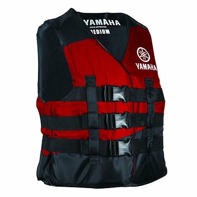 Yamaha OEM Nylon life jacket safety vest PFD USCG approved Red M medium size
