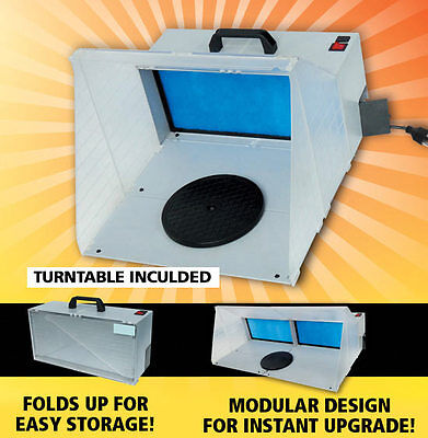 Compact Portable Spray Booth NEW airbrash sanding powercarving dust