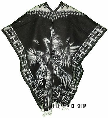 HEAVY BLANKET Mexican PONCHO - GALLOS 1 - ONE SIZE FITS ALL Blanket Serape Gaban