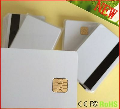 5pcs Smart IC card with SLE 4428 chip + magnetic stripe HiCo Contact IC card NEW