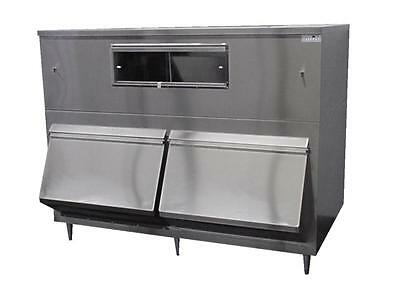 New ICE MACHINE BIN 2-Door Upright Bumper 2650LB Stainless Made USA