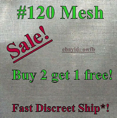 """12""""x12"""" 120 Mesh / 125 Micron Stainless Steel Concentrate Honey BEE oil SCreen"""